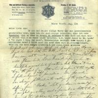Letter, [Hermann Joseph Muller Sr.] to Ada [Hermann Muller's sister]