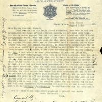 Letter, [Hermann Joseph Muller Sr.] to [Otto Muller, his younger brother].