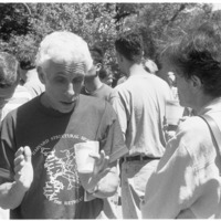 Stephen C. Harrison and _ at Signaling and Gene Expression in the Immune System Symposium Coffee Break, 1999.
