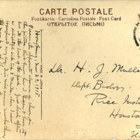 Picture Postcard from Hong Kong, J.H. McGregor to Dr. H.J. Muller.