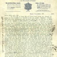 Letter with envelope, [Hermann Joseph Muller Sr.] to Ada [Hermann Muller's sister].