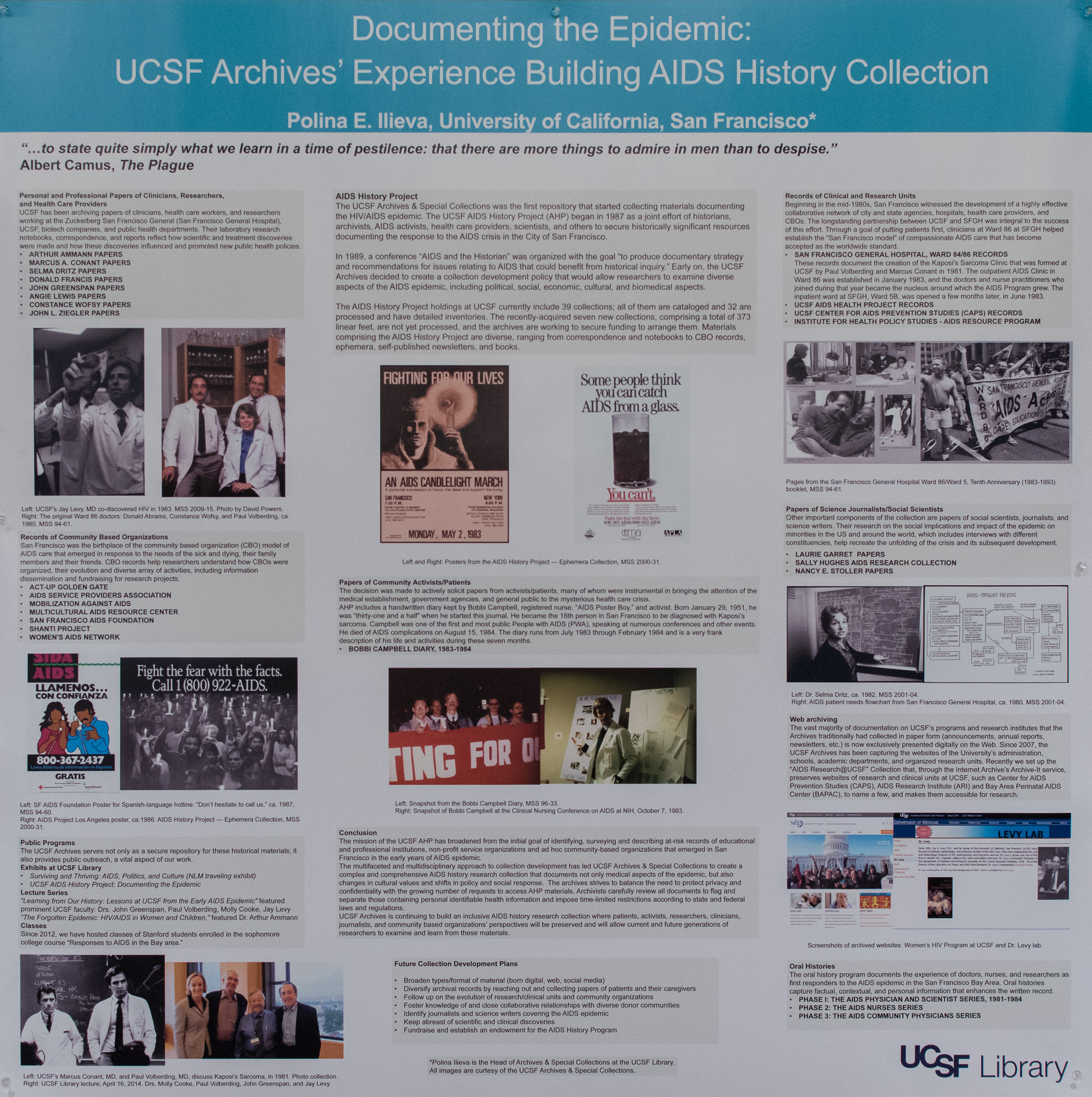 HIV/AIDS Research: Its History and Future - Posters